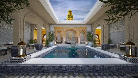 moroccan courtyard - by Teri Dawn