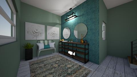 turquoise and metal work - Bedroom - by eWrighT36