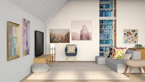 Bright - Modern - Living room  - by CitrusSunrise
