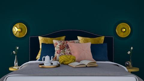 Tea in bed - Minimal - Bedroom  - by HenkRetro1960