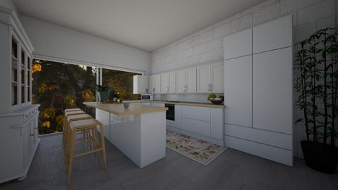 Unfinished kitchen mia  - Kitchen  - by ObsessedDiys