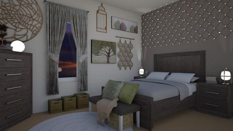 Rustic Room - Rustic - Bedroom  - by Bekah Lynn