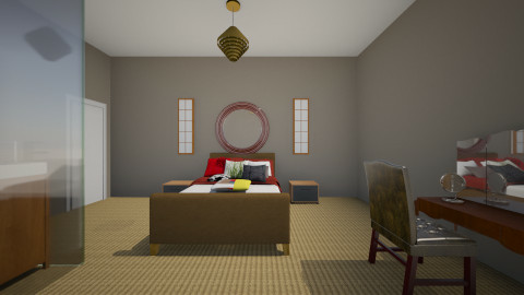 Glass hotel room - Classic - Bedroom  - by CeeCee_