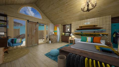 Surfin Bedroom - Rustic - Bedroom  - by tieganclayton