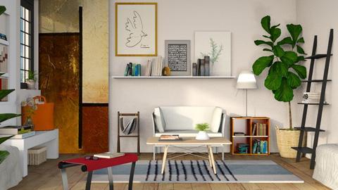 Reading corner 2 - Living room  - by Sally Simpson