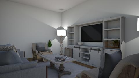 Gray living - Living room  - by stjdesigner