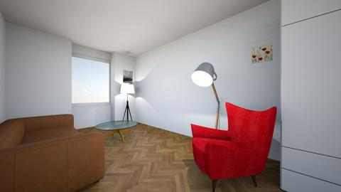 bez rega salon rut z boku - Living room  - by beereeza