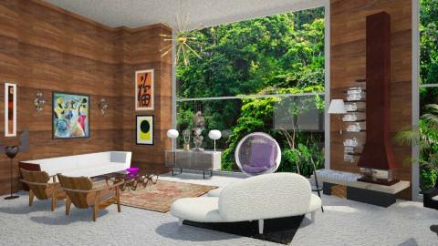 arty loft - Retro - Living room  - by whateffer