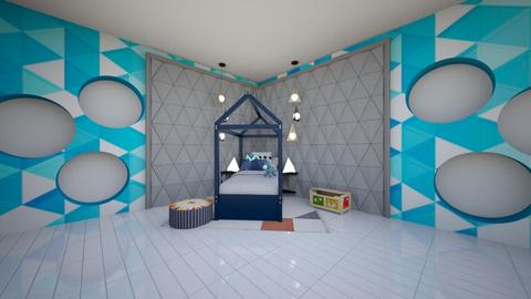 Triangle Kids Room  - Kids room  - by Callmekai22