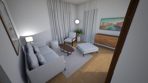 Living room small rug bod - Living room  - by MarikaMV