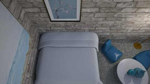 Blue and Bricks - Bedroom  - by Cuddle_Puppy