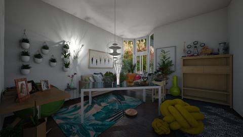 Flower living room - Modern - Living room  - by wolfiewolf123