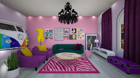 kitsch livingroom - Eclectic - Living room  - by criscancax