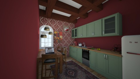 Vintage kitchen - Vintage - Kitchen  - by kalaaa
