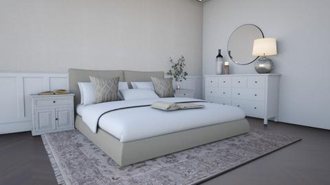 Neutral linen bedroom - Modern - Bedroom  - by Maaikevh