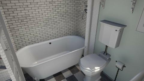 Minty fresh Bath time 3 - Modern - Bathroom  - by Lisett