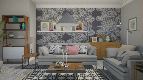 Small Space Contemporary - Eclectic - Living room  - by janip