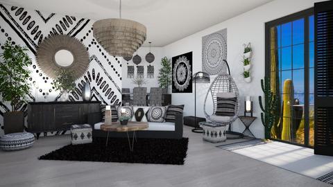 BOHO NERO - Living room  - by RS Designs
