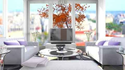 purple livingroom - Retro - by decordiva1