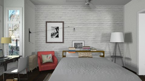Loft Bedroom - Minimal - Bedroom  - by LizyD