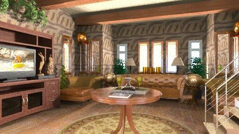 Rustic Living Room - Rustic - Living room  - by wiljun