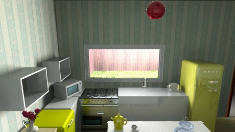1940s Modern Kitchen - Retro - Kitchen  - by tillla01