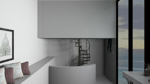 study - Modern - Office  - by amandafern