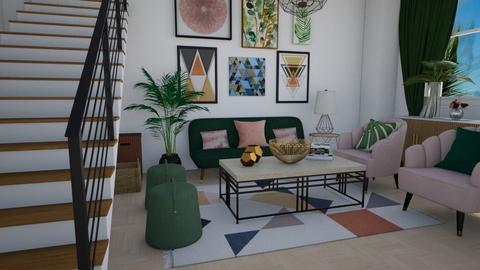 Geometric - Living room  - by nkanyezi