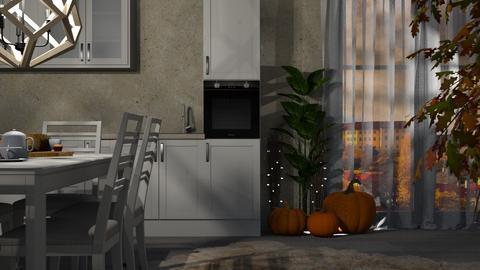 Autumn Pattern Kitchen - Kitchen  - by ivetyy1010