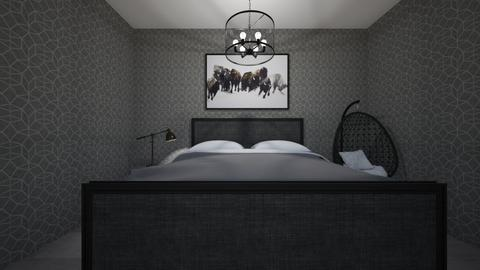 black bedroom - Bedroom  - by OferneH