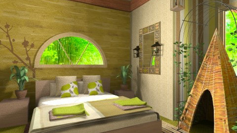 Gardener Bedroom - Rustic - Bedroom  - by nicolajerath