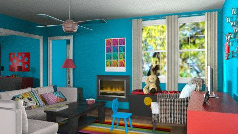 Apartment living room - Eclectic - Living room  - by alleypea