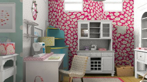 Sewing Room - Eclectic - Office - by ruthiec1