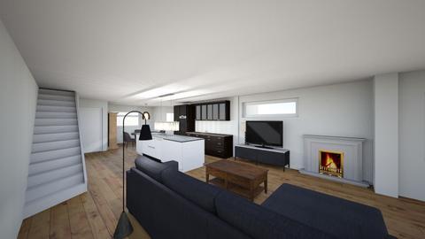 grondplan 3D - Living room  - by aaronvdb00