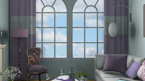 Purple_2 - Eclectic - Living room  - by milyca8