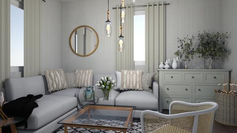pudrowy salon - Feminine - Living room  - by monek299