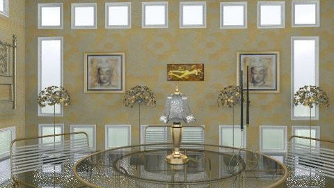 gilt dining - Glamour - Dining room  - by trees designs
