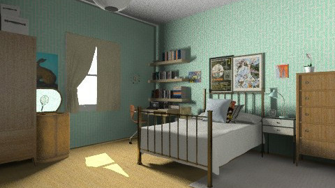 vintagey - Retro - Bedroom  - by judimay11