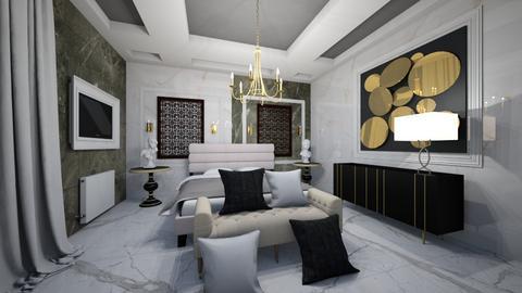 Mixed_Bedroom_Classic_Modern_Interior - Modern - Bedroom  - by Nikos Tsokos