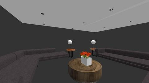 Orange and Grey - Modern - Living room - by FabulousGirl35