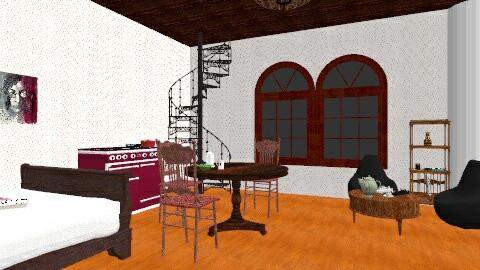 Artists flat - Vintage - Bedroom  - by Navaja Larissa