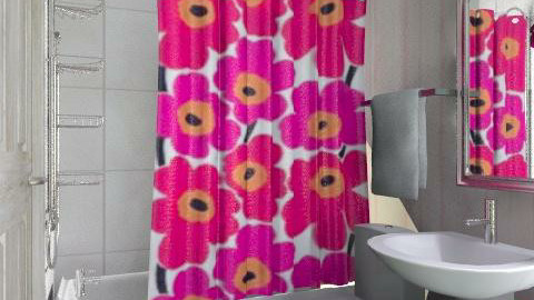 Bitty bathroom for teeny tiny studio apartment - Modern - Bathroom  - by alleypea