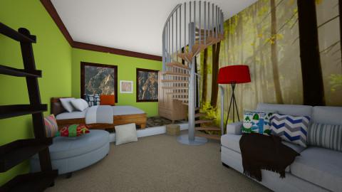 green - Bedroom  - by kkyrta