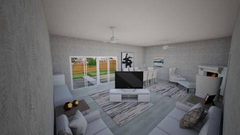 living with garden - Living room - by RALU 1234