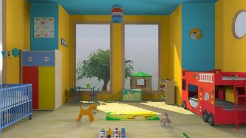 boys 2 play - Modern - Kids room  - by stasacl21