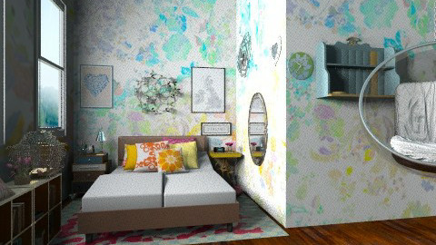 multi colored  - Bedroom - by alliesmiley