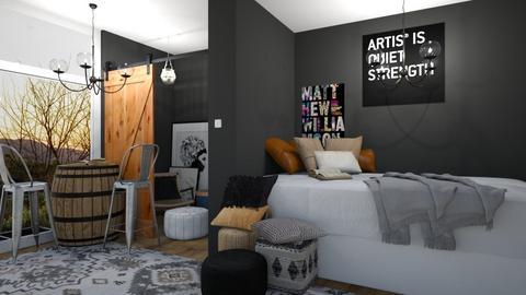 rustic dorm - Bedroom  - by belly bel bel