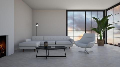 Minimalist living room - Living room  - by Ontwerpstudio34