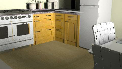Small Kitchen (My Flat) - Country - Kitchen - by hermy_own