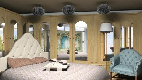 Mirrored bedroom_3 - Eclectic - Bedroom  - by milyca8